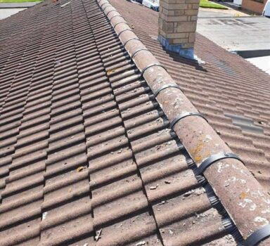 Ridge Tile Re-bedding
