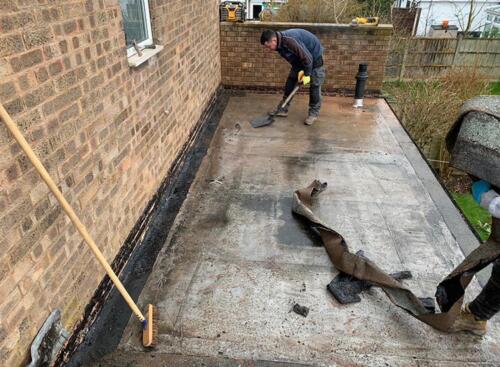 Flat Roof Repair Project